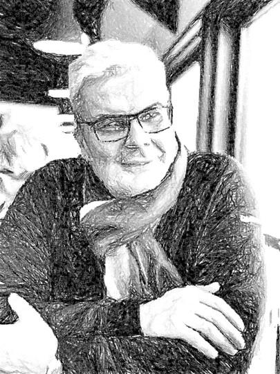 Meier Portrait Skizze sw